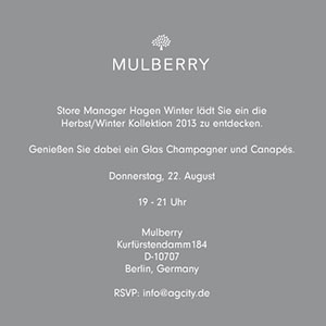 City Talk bei Mulberry