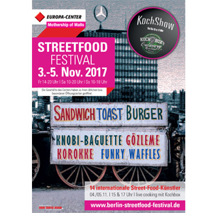 STREETFOOD FESTIVAL 3.-5. Nov. 2017 im EUROPA-CENTER